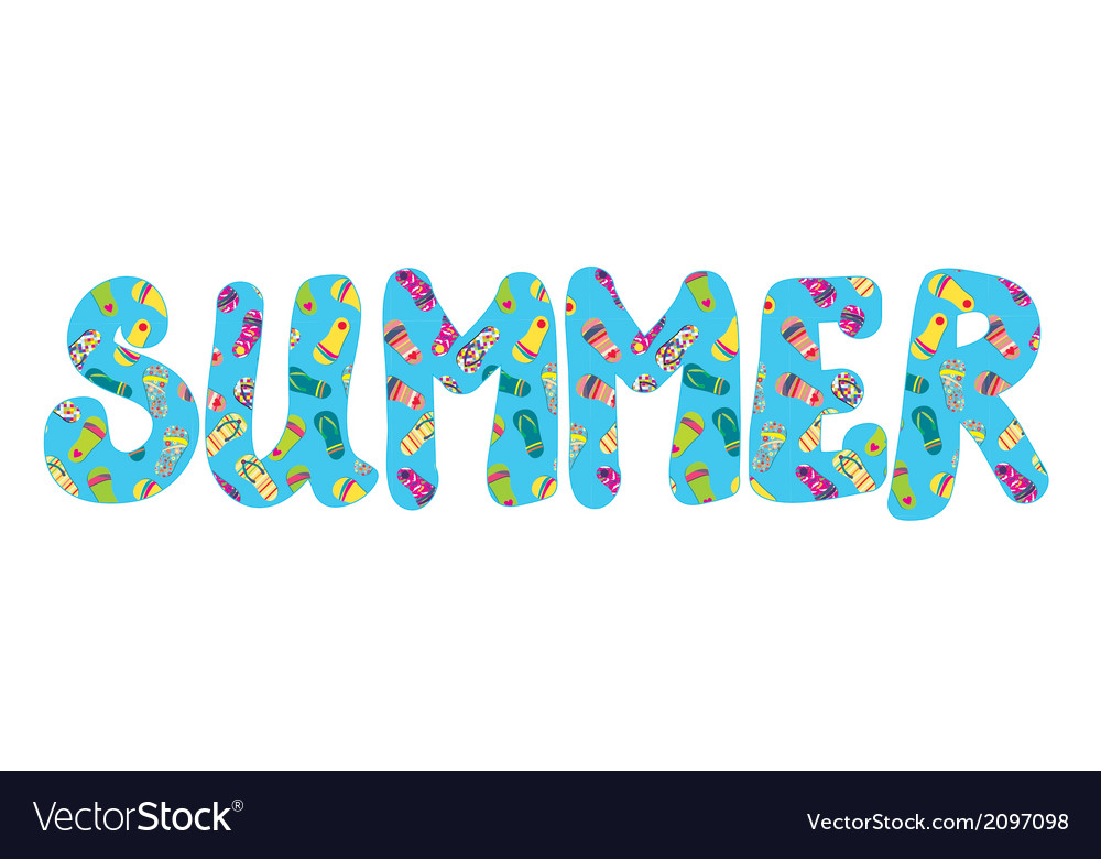 Summer banner with flip flops vector | Price: 1 Credit (USD $1)