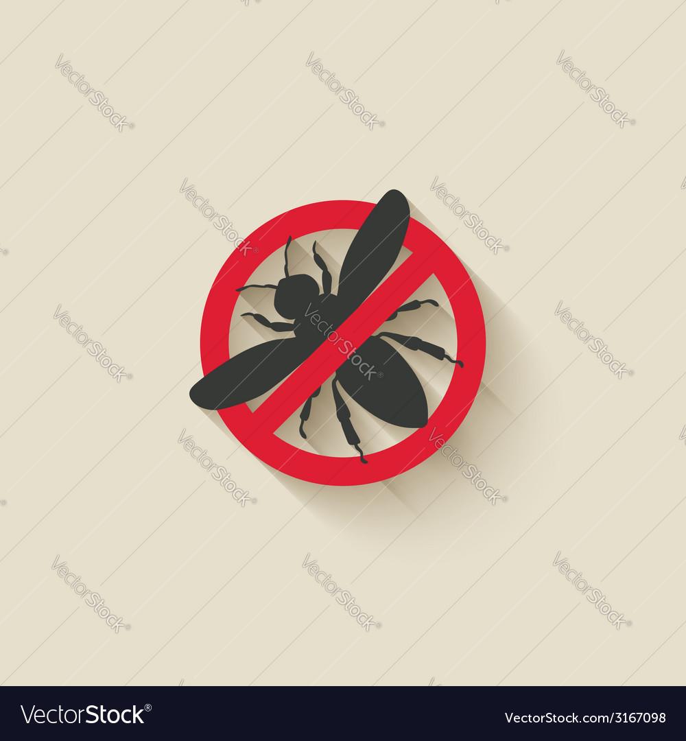 Wasp warning sign vector   Price: 1 Credit (USD $1)