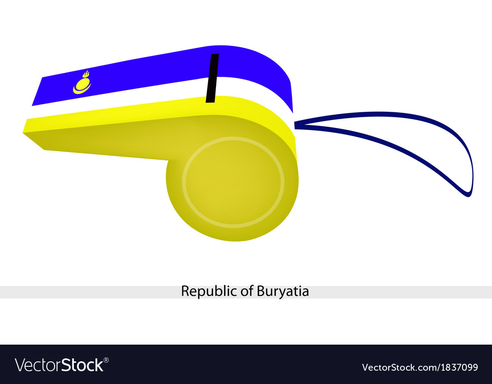 Blue white and yellow stripe on buryatia whistle vector | Price: 1 Credit (USD $1)