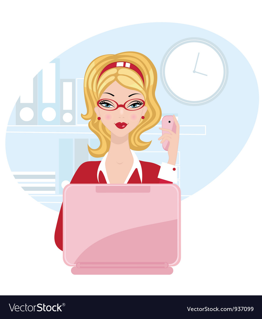 Chick office woman vector | Price: 3 Credit (USD $3)