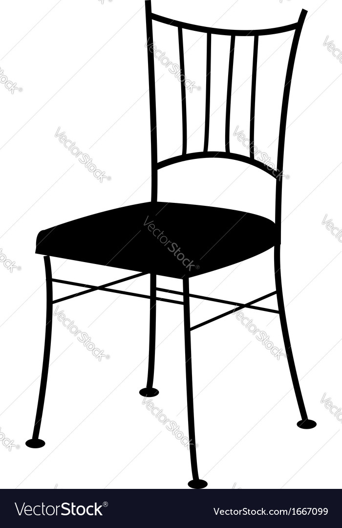 Dining chair- logo for interior design vector | Price: 1 Credit (USD $1)