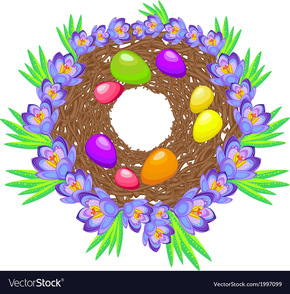Easter eggs in the nest vector | Price: 1 Credit (USD $1)