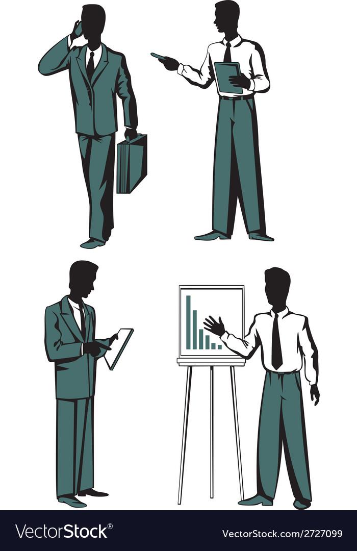 Four businessmen vector | Price: 1 Credit (USD $1)