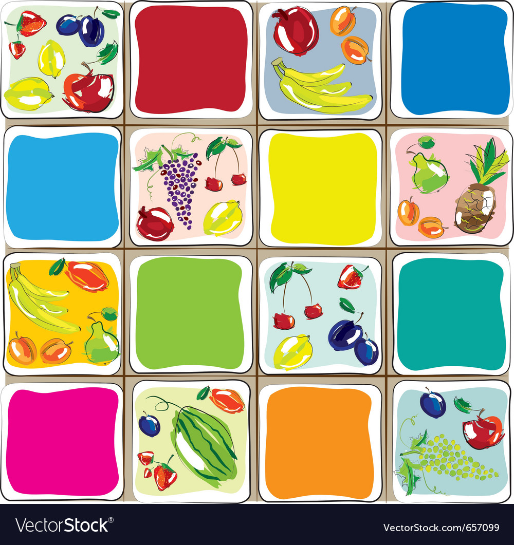 Fruits designs for the kitchen vector | Price: 1 Credit (USD $1)