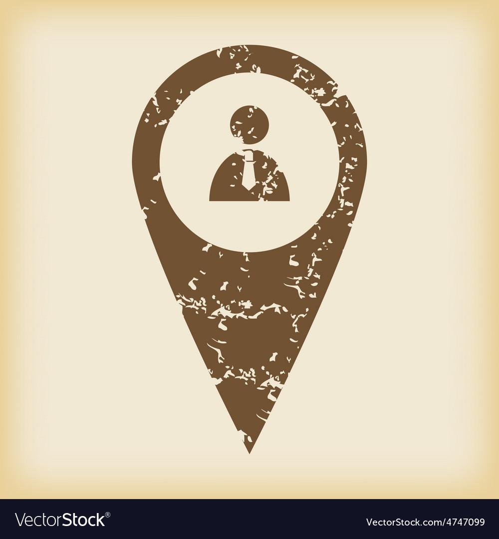 Grungy person pointer icon vector | Price: 1 Credit (USD $1)