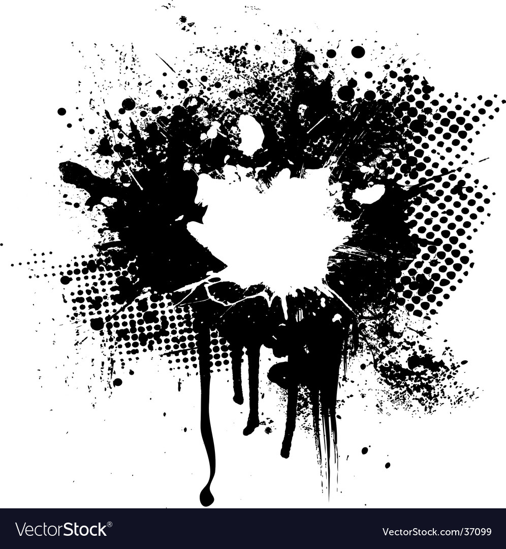 Ink splat overlay vector | Price: 1 Credit (USD $1)