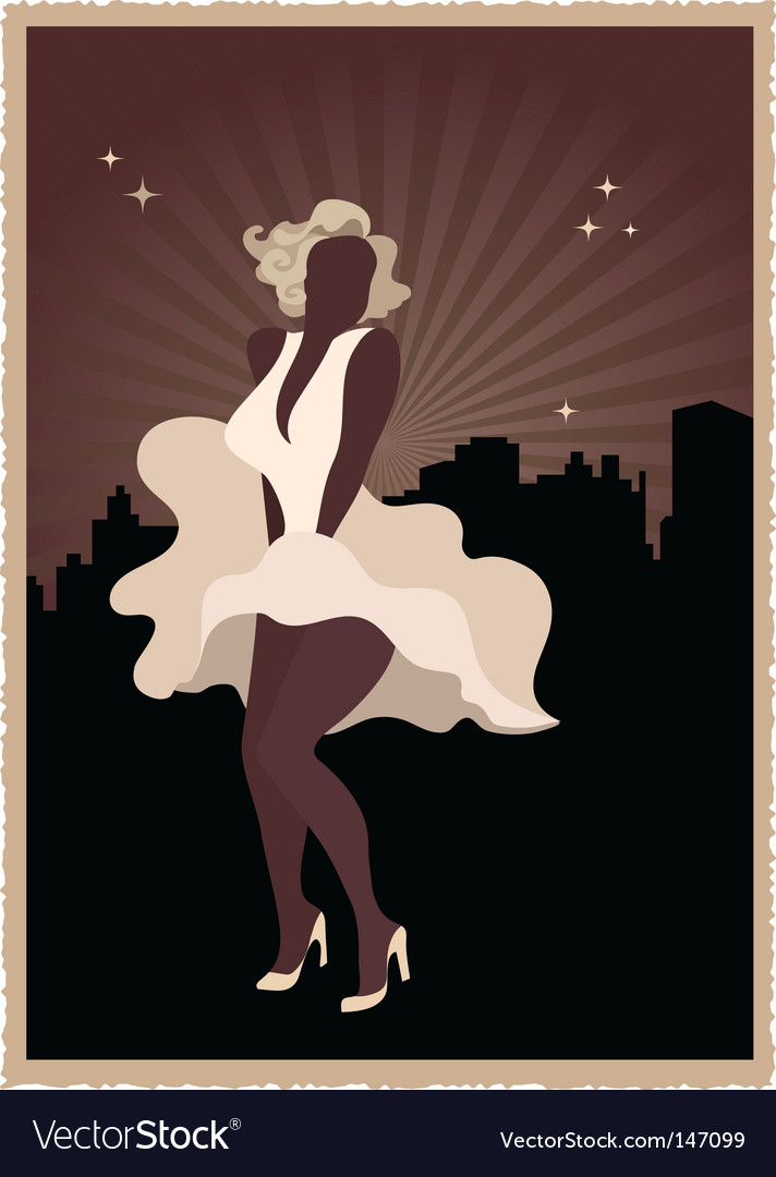 Marilyn monroe poster vector | Price: 1 Credit (USD $1)