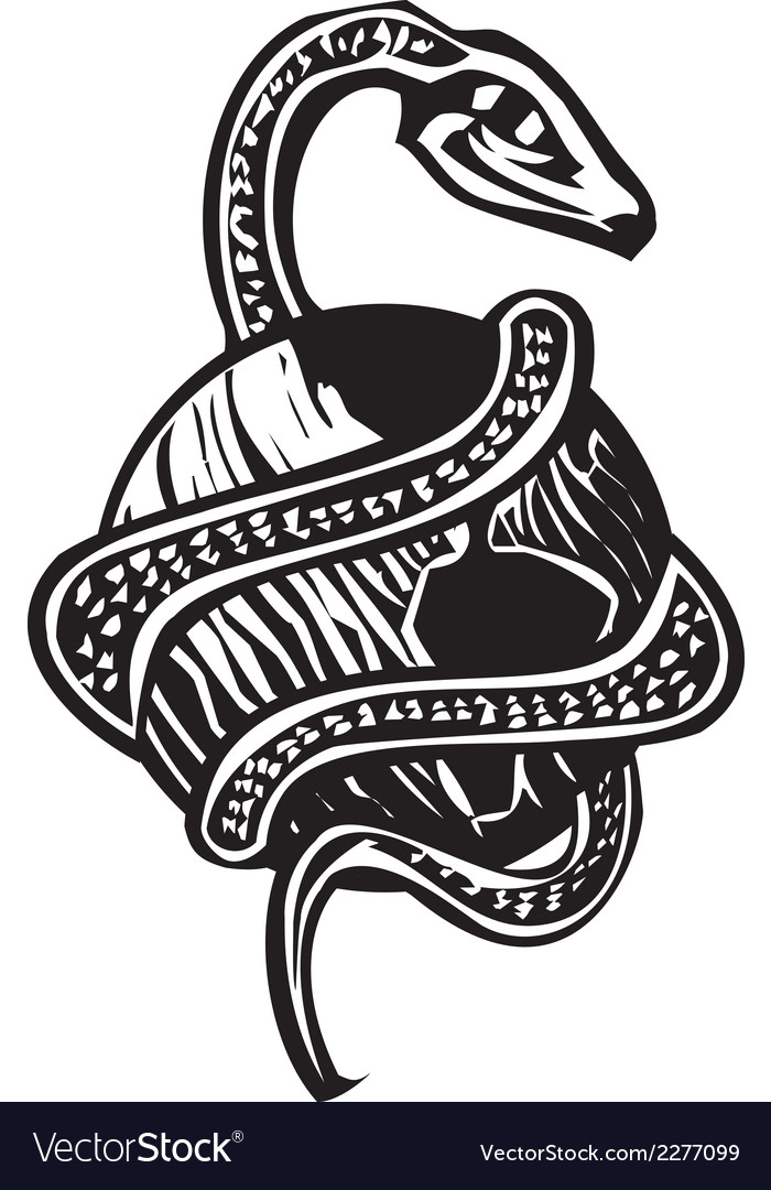 Midgard serpent vector | Price: 1 Credit (USD $1)