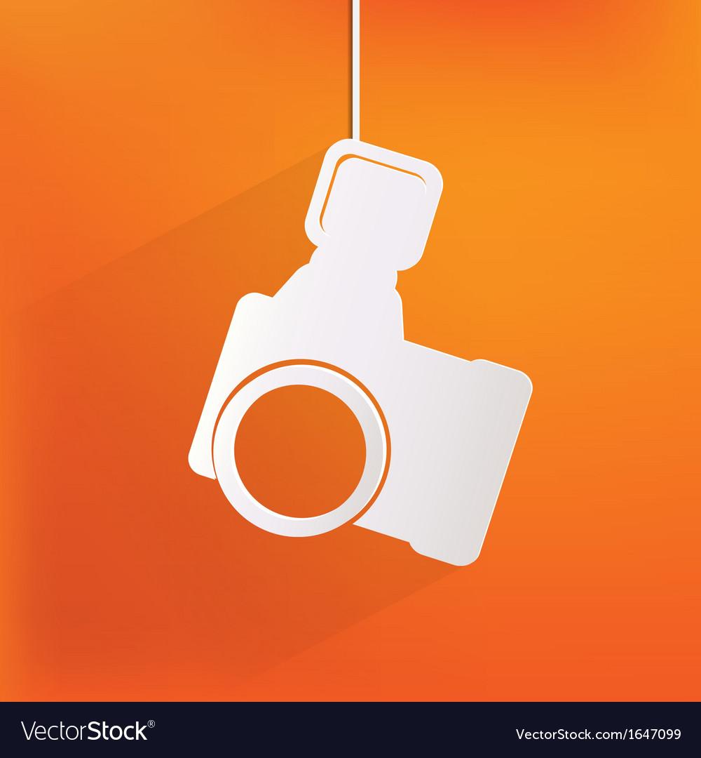 Photo camera web iconflat design vector   Price: 1 Credit (USD $1)