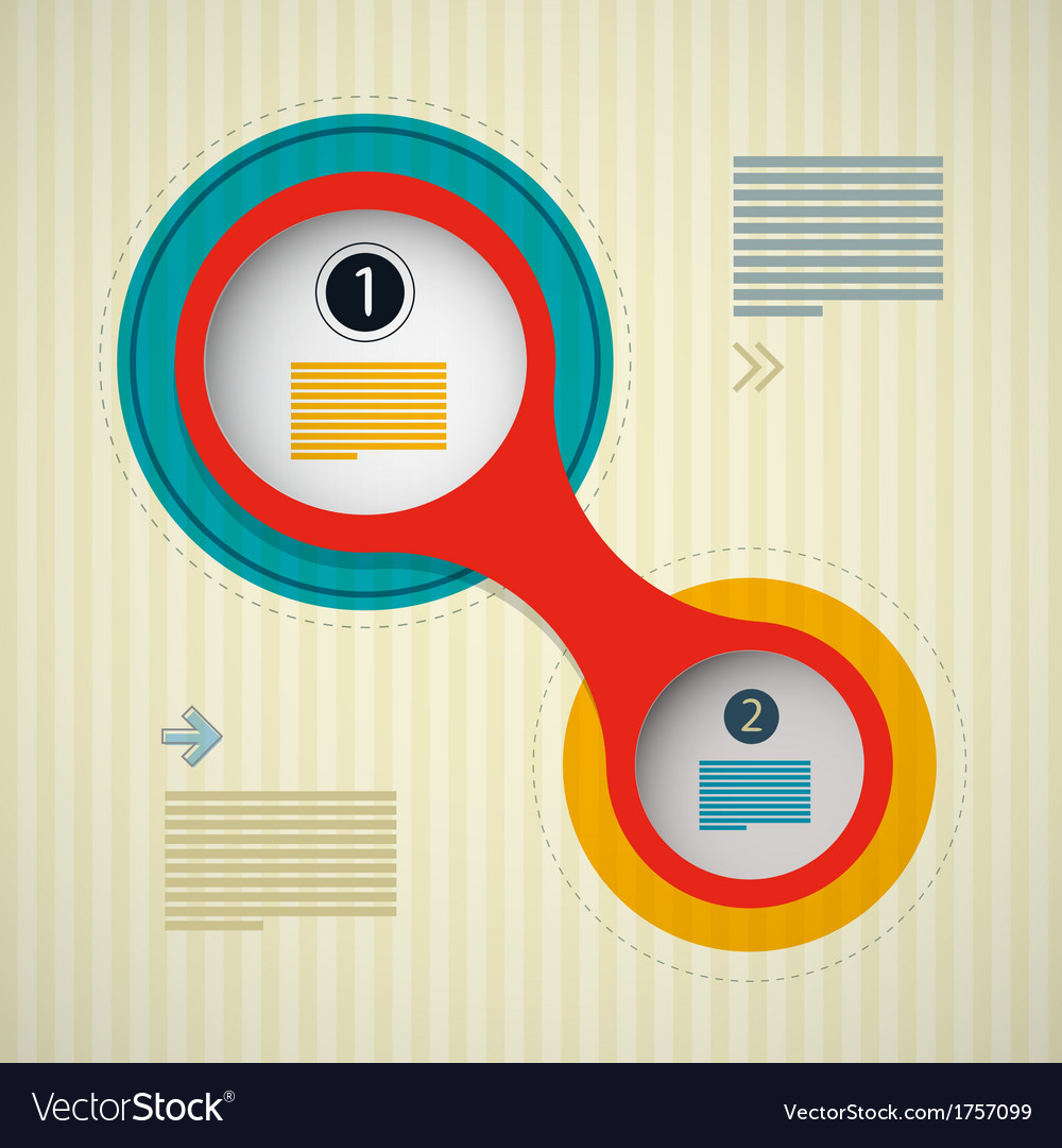 Retro circle infographics background web design vector | Price: 1 Credit (USD $1)