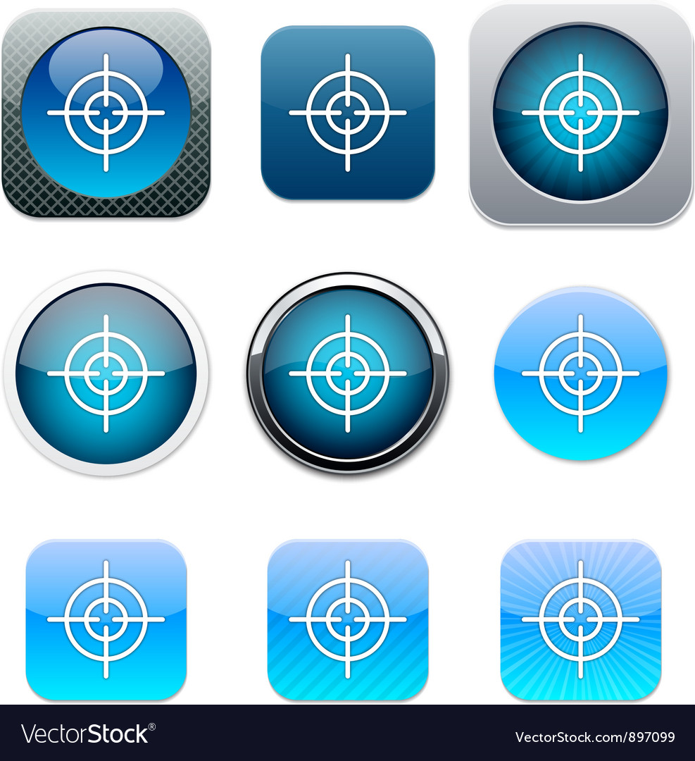Sight blue app icons vector | Price: 1 Credit (USD $1)