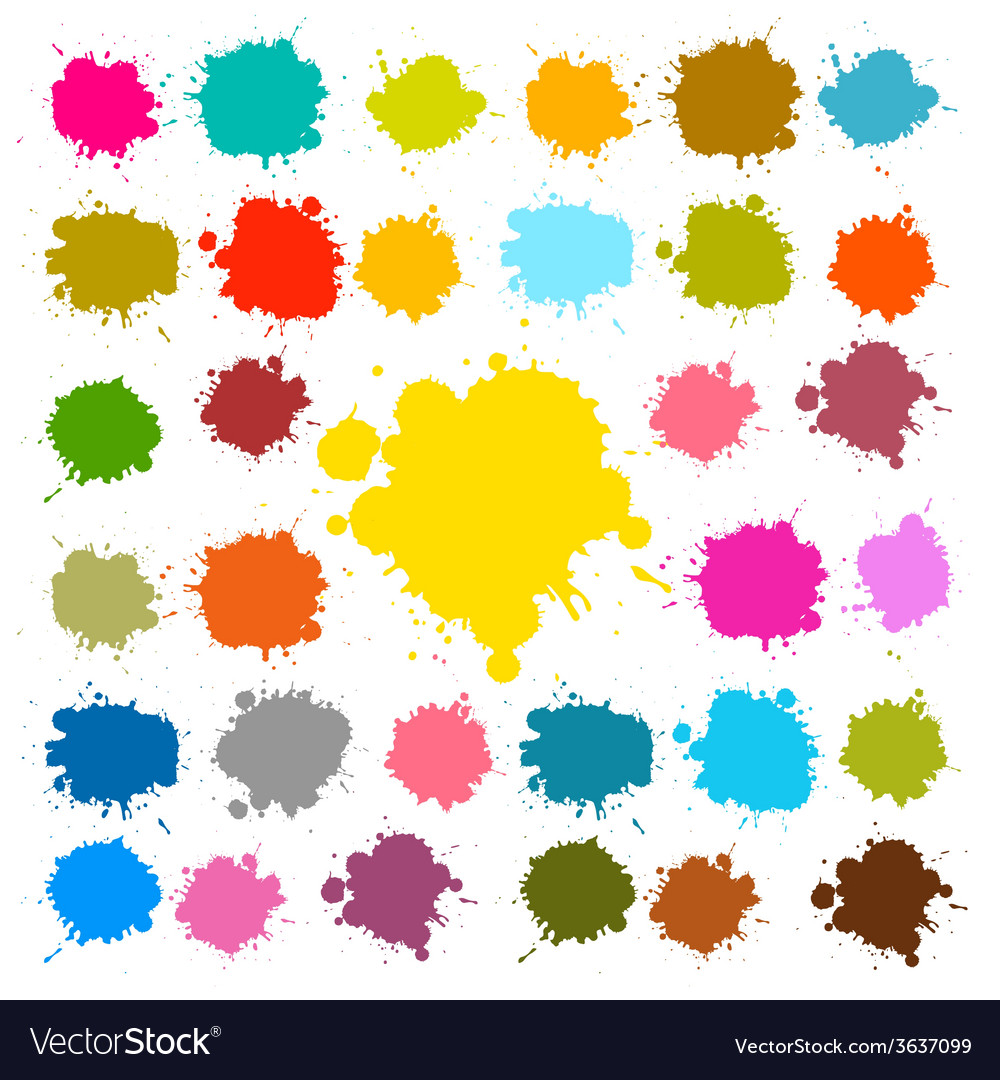 Splashes - blots - stains set vector | Price: 1 Credit (USD $1)