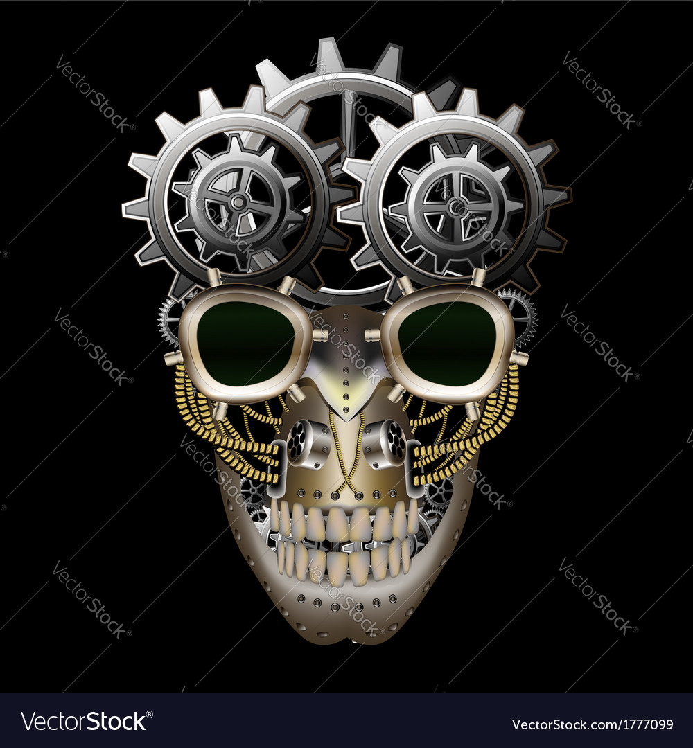 Steam punk skull vector | Price: 1 Credit (USD $1)