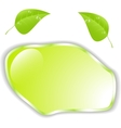 Green leaf with space for text  eps10 vector