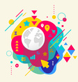 Planet on abstract colorful spotted background vector