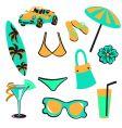 Summer items vector