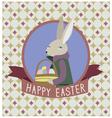 Happy easter design with grey rabbit vector