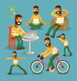 Lifestyle concept everyday life character set vector