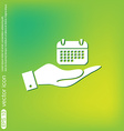Hand holding a calendar vector