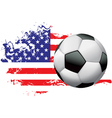 United states soccer grunge vector