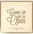 Calligraphic lettering we open vector