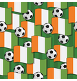 Ivory coast football pattern vector