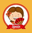 Spain kid vector