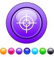 Sight circle button vector