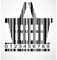 Barcode shoping cart image vector