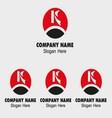 K letter logo - template icon letter k vector