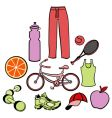 Healthy life style vector