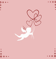 Lovely angel with hearts vector