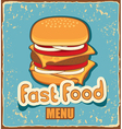 Retro cheeseburger vector