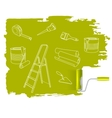 Home repair concept sketched drawing with paint vector
