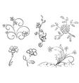Set of flowers - elements vector