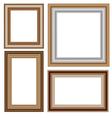 Four wooden frameworks vector