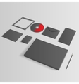 Blank corporate set isolated on grey mock up vector