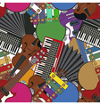 Musical instruments tile vector