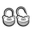 Lock icon black and white vector