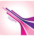 Pink arrow strips vector