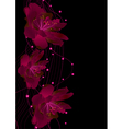 Red flowers on black vector