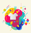 T shirt on abstract colorful spotted background vector