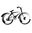 Bike freehand drawing black and white vector