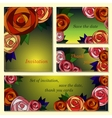Invitation save the date cards with mosaic roses vector