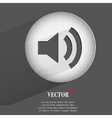 Volume flat modern web button with long shadow and vector