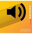 Speaker flat modern web button with long shadow vector