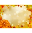 Autumn pumpkins and leaves eps 8 vector