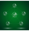 Glass sphere infographic 4 vector