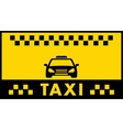 Taxi background with cab silhouette vector