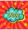 Sale comic speech bubble background in cartoon vector